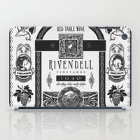 Lord of the Rings Rivendell Vineyards Vintage Ad iPad Case