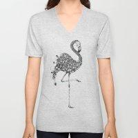Poetic Flamingo Unisex V-Neck