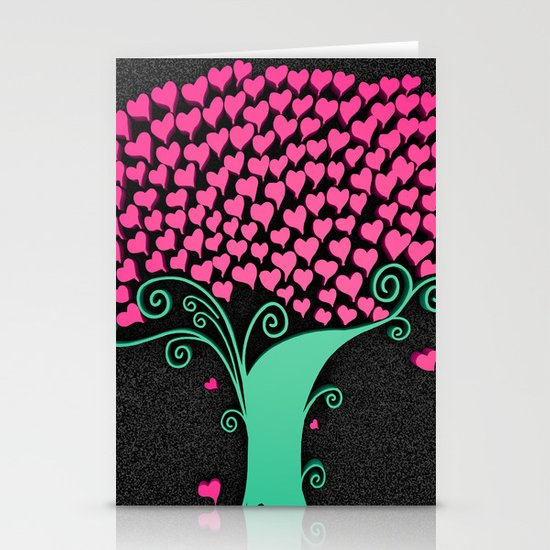 Tree Of Love  Stationery Card