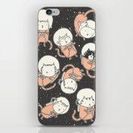 iPhone & iPod Skin featuring Cat-Stronauts by Drew Brockington
