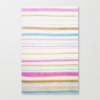 Betty's Beach Towel Canvas Print