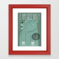 Friendly Bear Framed Art Print