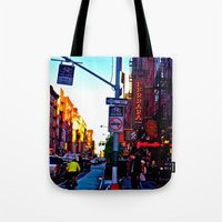 Sun Goes Down  In The Ci… Tote Bag
