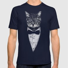 Mr Cat Mens Fitted Tee Navy SMALL
