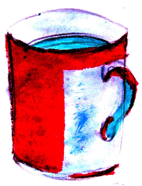 big coffee cup Art Print