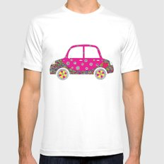 Colorful car SMALL White Mens Fitted Tee