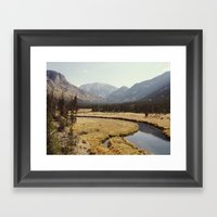 Rocky Mountain Meadow Framed Art Print