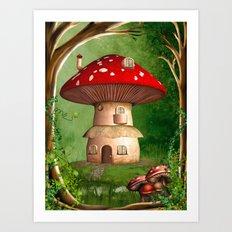 Dwarf Land Art Print