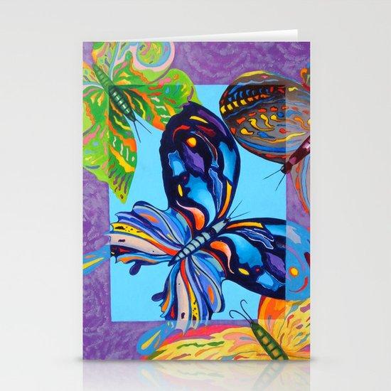 Butterflies Stationery Card