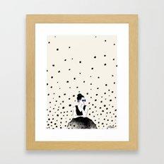 Polka Rain III Framed Art Print