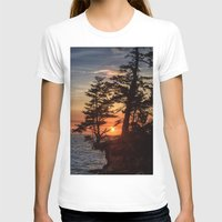 Sunset Through The Trees Womens Fitted Tee White SMALL
