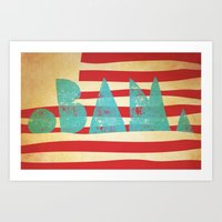 obama Art Prints featuring oBAMa by Josh Franke