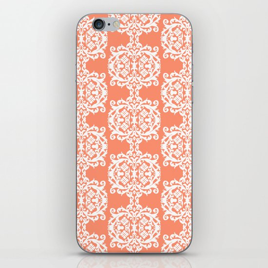 Behind Damask - Peach iPhone & iPod Skin