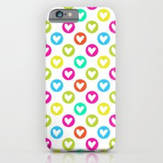 Colorful hearts  iPhone 6 Slim Case