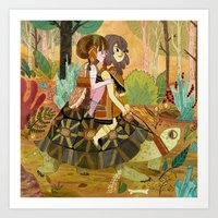 Tortoise Ride Art Print