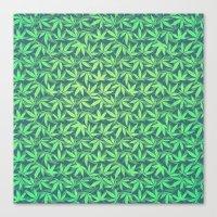 Cannabis / Hemp / 420 / Marijuana  - Pattern Canvas Print