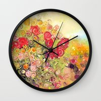 Colorful Flower Basket P… Wall Clock