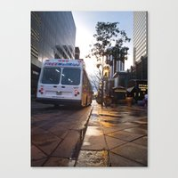 Bus on 16th Street Canvas Print