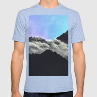 echo mountains Blue Mens Fitted Tee Tri-Blue SMALL