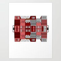 Row Houses  Art Print