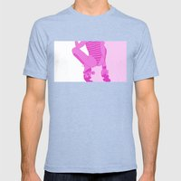 ROLLER GIRL Mens Fitted Tee Tri-Blue SMALL