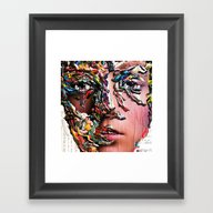 Framed Art Print featuring Collage: Courage by Winston Torr Art