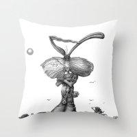 Ed Jack Rabbit Throw Pillow