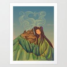 Volcano Love Art Print