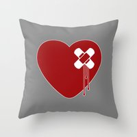 Heart Broken Throw Pillow