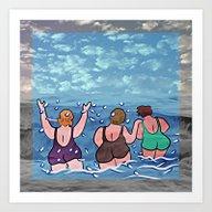 Joy At The Sea Art Print