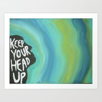 Head Up Art Print