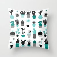 Cactuses Throw Pillow