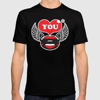 You Mens Fitted Tee Black SMALL