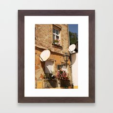 Zagreb, Croatia. War damage. Framed Art Print