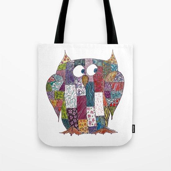 Logcabin Owl Tote Bag