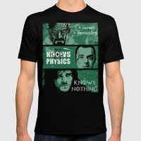 Knowledge Rules Mens Fitted Tee Black SMALL