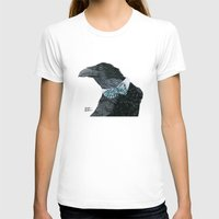 Raven Croft Womens Fitted Tee White SMALL