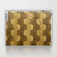 Wooden Zig Zag Optical Cubes Laptop & iPad Skin