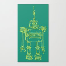 Yellow Robot Canvas Print