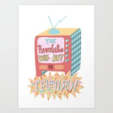 Gil Scott-Heron - The Revolution Will Not Be Televised! Art Print