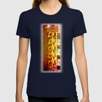 Chinatown Womens Fitted Tee Navy SMALL