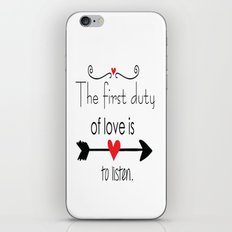 Love is to listen iPhone & iPod Skin