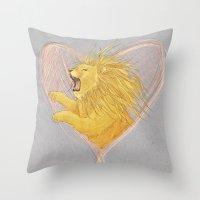 Lionheart Throw Pillow