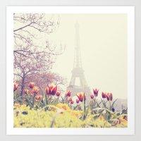 paris Art Prints featuring Paris by Gabriela Da Costa