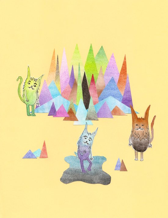 Cats and Mountains Art Print