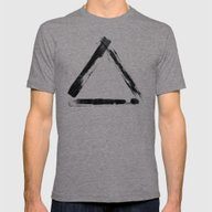 DIGITAL INDIAN INK - TRI… Mens Fitted Tee Tri-Grey SMALL