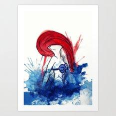 Ariel Splash Art Print