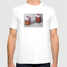 Cupcakes White SMALL Mens Fitted Tee