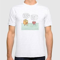 bowl of batter, what's the matter Mens Fitted Tee Ash Grey SMALL
