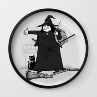 Witch Hiker Wall Clock